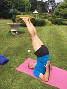 Shoulderstand -Salamba Sarvangasana - on one of our Diversity Yoga day retreats